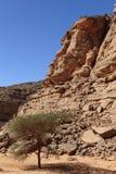 Hoggar Mountains in Algeria Stock Photography