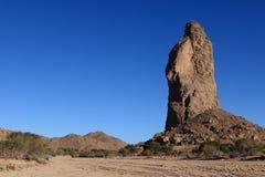 Hoggar Mountains in Algeria. Hoggar Mountains in the Sahara Algeria Royalty Free Stock Photography