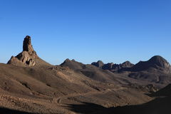 Hoggar Mountains in Algeria Stock Photography