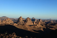 Hoggar Mountains in Algeria Stock Images
