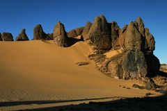 Hoggar Tassili Royalty Free Stock Photography