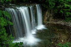 Hoggs Falls, Flesherton Ontario. Hoggs Falls is another of the many waterfalls of the Niagara Escarpment. This is a small, secluded and mostly wild waterfall stock photo