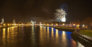 Hogmanay  in Inverness. Stock Photography