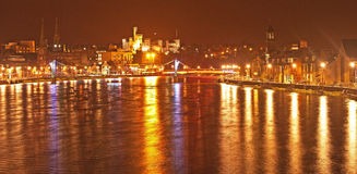 Hogmonay at Inverness. Inverness, River Ness and Castle illuminated for new year 2015 Stock Photos