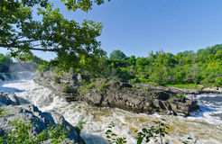 Hogs Back Falls in Ottawa, Canada. Hog's Back waterfalls in Ottawa, Ontario in Spring, part of the Rideau Canal system Royalty Free Stock Images