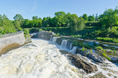 Hogs Back Falls in Ottawa, Canada. Hog's Back waterfalls in Ottawa, Ontario in Spring, part of the Rideau Canal system Stock Images