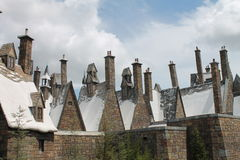 Hogsmaede Houses Harry Potter Universal Studio's Royalty Free Stock Photos