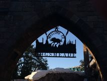 Hogsmeade Harry Potter World royalty-vrije stock afbeeldingen