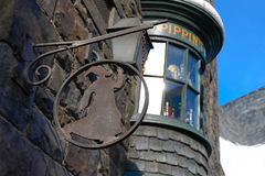 Hogsmeade Village at Wizarding World of Harry Potter. OSAKA, JAPAN - Apr 25 2017: This is a scene in Beautiful Hogsmeade Village at Wizarding World of Harry Stock Photos