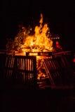 Hoguera de las plataformas de madera Fotos de archivo libres de regalías