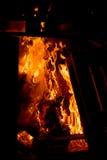 Hoguera de las plataformas de madera Foto de archivo libre de regalías
