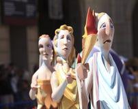 Hogueras en la ciudad de Alicante Imagen de archivo libre de regalías