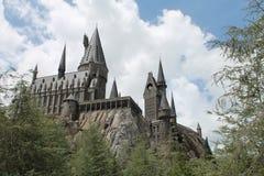 Hogwarts城堡哈利・波特环球电影制片厂的 免版税库存图片