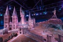 Hogwarts模型在华纳兄弟的 演播室游览-做Ha 免版税图库摄影