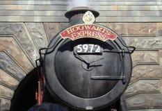 Hogwarts ausdrücklich, Wizarding Welt von Harry Potter Stockbild