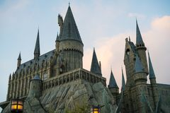 Hogwarts castle in the evening Stock Image