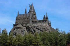 Hogwarts Castle. Hogwarts School of Witchcraft and Wizardry Stock Photo