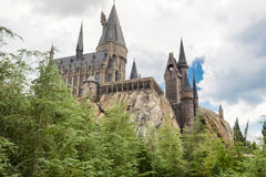 Hogwarts Castle at Universal Studios Islands of Adventure Stock Photo