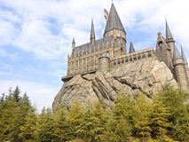 Hogwarts castle in Universal Studios stock photo