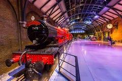 Hogwarts expreso y plataforma Foto de archivo libre de regalías