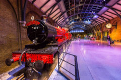 Hogwarts Express and platform Royalty Free Stock Photo
