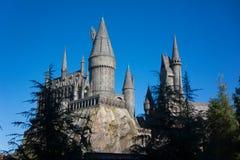 Hogwarts för universella studior skola av häxeri och trolldom Harry Potter Arkivbilder
