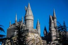 Hogwarts för universella studior skola av häxeri och trolldom Harry Potter Fotografering för Bildbyråer