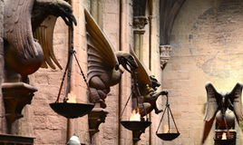 Hogwarts grand hall, Warner Bros Studio Photographie stock