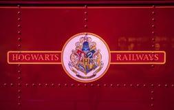 Hogwarts järnvägtecken Fotografering för Bildbyråer