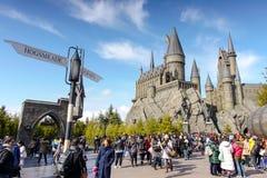 Hogwarts kasztel Zdjęcia Royalty Free