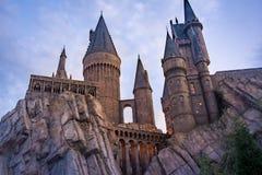 Hogwarts kasztel przy Ogólnoludzkim parkiem tematycznym w Orlando Floryda Fotografia Stock