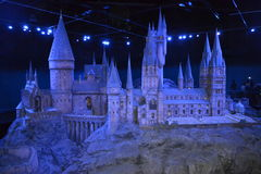 HOGWARTS model Warner HARRY POTTER TOUR London Leavesden Royalty Free Stock Images
