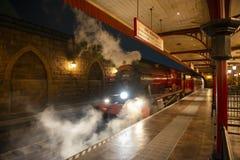 Hogwarts Railways in Universal Orlando, FL, USA. Hogwarts Railways at Hogsmeade Station in the Wizarding World of Harry Potter in Universal Orlando, Florida, USA stock image
