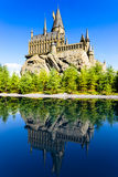 The Hogwarts School of Harry Potter. In Universal Studios, Osaka, Japan.One of the famous spot for the tourists who visit Osaka should go stock images