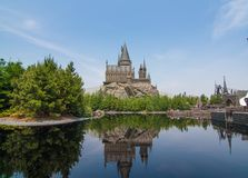 The Hogwarts School of Witchcraft and Harry Potter in Universal Studio Japan stock image