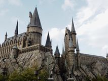 Hogwarts& x27;城堡,日本环球影城 库存图片