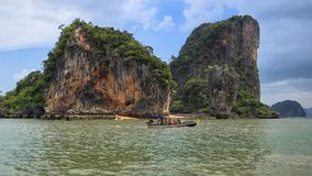 Hoh Ta Pu, The Spike Island In the Sea Stock Photo