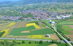 Hohberg, Ortenau-Antenne Stockbild