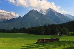 Hohe alpine Landschaft, Deutschland Stockbild
