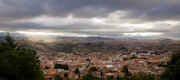 Hohe Ansicht der Stadt von Sucre, Bolivien lizenzfreies stockfoto
