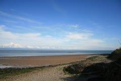 Hohe Ansicht des Llyn-Halbinselwassers Lizenzfreie Stockfotografie