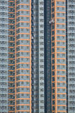 Hohe Anstiegebenen mit Fensterreinigungsmitteln stockbilder