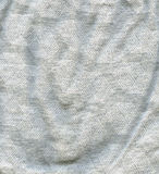 Baumwollgewebe-Beschaffenheit - Grau mit weißem Muster Stockbild