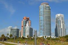 Hohe Aufstiege am Südpunkt, Miami Beach, Florida Stockfoto