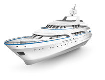 Hohe ausführliche Yacht des Vektors Lizenzfreie Stockfotografie