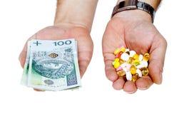 Hohe Behandlungskosten stockbild