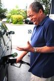 Hohe Benzin-Preise stockbild