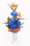 Hohe Blumen in einem PlastikVase. Stockfotografie