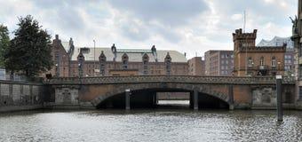 Hohe Brucke and Kranwarterhaus, Hamburg, Germany. Royalty Free Stock Photo