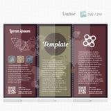 Hohe Designschablone des Broschürenspotts für Geschäft, Bildung, Anzeige Editable bedruckbarer Vektor der dreifachgefalteten Bros Stockfoto